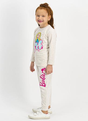 Barbie Pijama Takım Krem